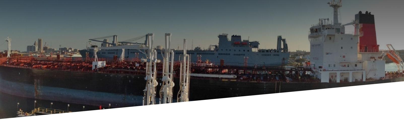 cargo ship at marine port