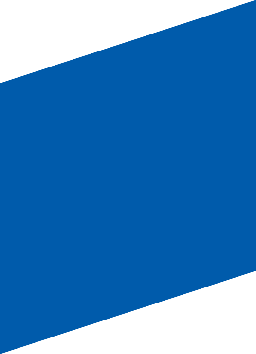 blue diagonal banner